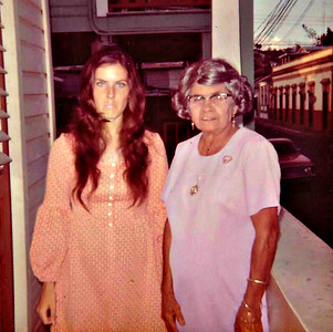 Len and Dona Clementina -- the older Puerto Rican lady we lived with in Ponce, PR. (1973)