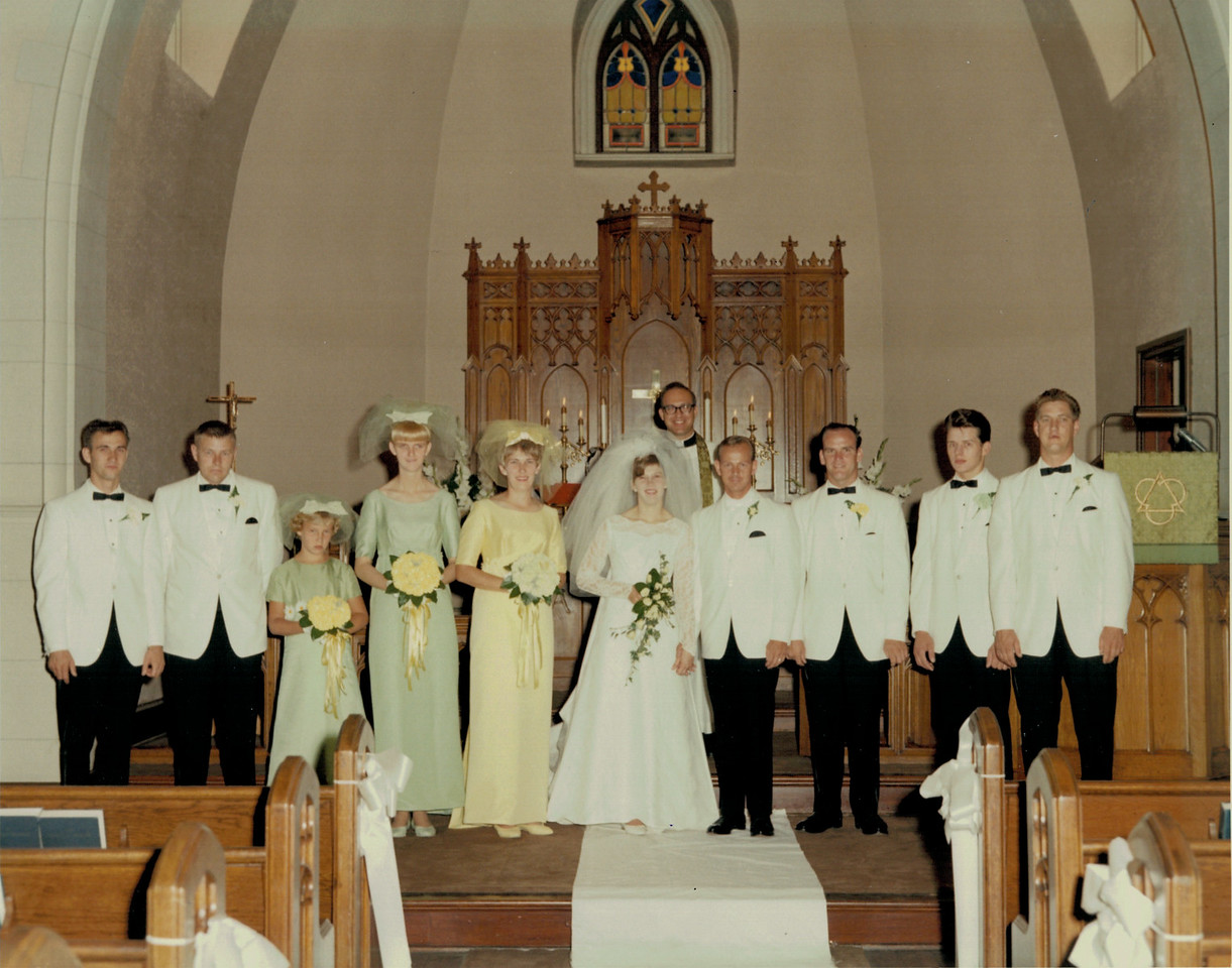 Richard and Paulette's wedding 1967
