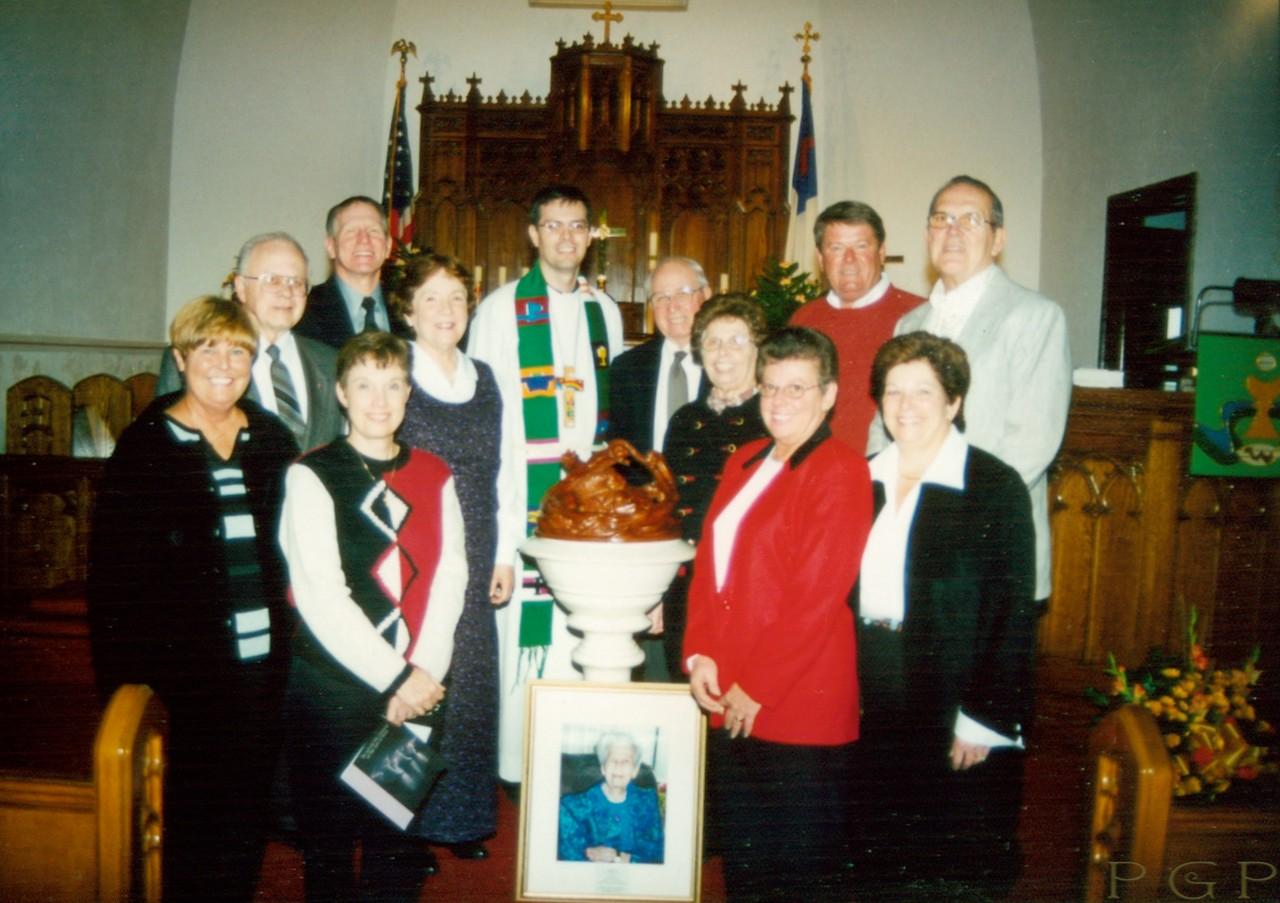 "Lisowski family at the dedication of ""The Lamb"", Nov. 10, 2002"