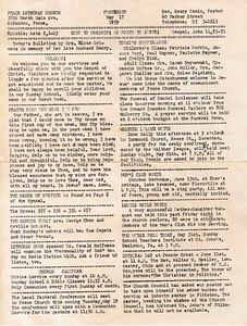 1959 Sunday Bulletin
