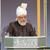 Ref 007:   Hadhrat Khalifatul Masih V delivering his keynote address at the 2012 Peace Symposium