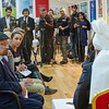 PIC REF: Peace 3 - 1540<br /> After the speeches and dinner, a meeting with the English Press was held where His Holiness answered a number of questions from journalists from all types of media.