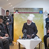 PIC REF: Peace 3-1522<br /> After the speeches and dinner, a meeting with the English Press was held where His Holiness answered a number of questions from journalists from all types of media.