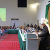 """PIC REF: Peace Conference TC 0013<br /> The Khalifa of the Promised Messiah(peace be upon him) pledged to continue to counsel all parties towards peace and justice. Hadhrat Mirza Masroor Ahmad said: """"I will, God Willing, always continue to carry out my task and my responsibilities of promoting peace, tolerance, justice and compassion to the corners of the world. I will continue to tell all people that in order to be relieved of the pain and suffering that we face today, we must adopt true justice and equality."""""""