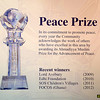 PIC REF: Peace 6-2459 <br /> The Peace Symposium event also sees the presentation of the International Peace Prize. This year marked the fourth award and was presented by His Holiness to Dr Oheneba Boachie-Adjei