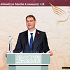 """The recipient of the Ahmadiyya Muslim Prize for the Advancement of Peace, Magnus MacFarlane-Barrow, CEO Mary's Meals UK said:<br /> """"I am deeply honoured and moved to receive this award and thank His Holiness, Hazrat Mirza Masroor Ahmad for this honour. The work of Mary's Meals is very simply to feed children so that they are able to go to school."""""""