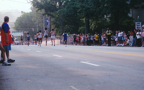 Peachtree 2002 Finish Line