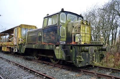0-4-0DM 875/9222 seen at Blodwell Quarry sidings, Lanyblodwel, Cambrian Heritage Railway     29/11/15