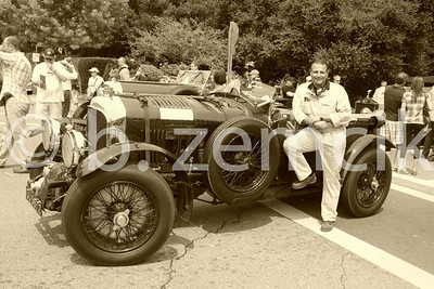 Harkening back to the early years, a Bentley Boy and his car.
