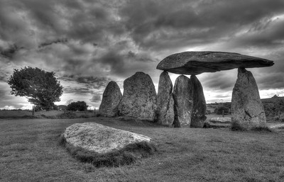 Pentre Ifan, stone age burial chamber in the Preseli Hills, Pembrokeshire