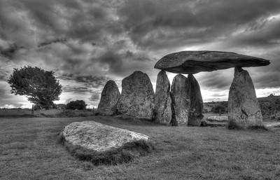 Pentre Ifan, stone age burial chamber in the Preseli Hills, Pembrokeshire