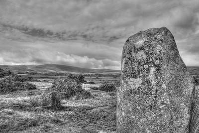 Blue-stone standing stone, Preseli HIlls, Pembrokeshire