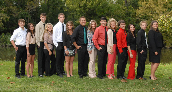 Homecoming Queen candidates and escorts.
