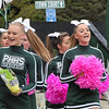 Pendleton Heights cheerleaders on the parade route.