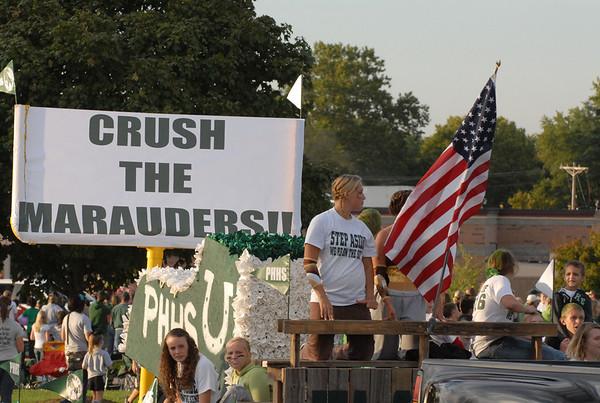 Crush the Marauders float.