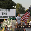 Crush the Marauders float.