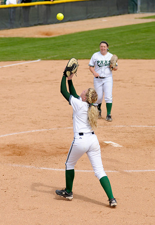 Morgan Hubble catches a pop fly.