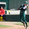 Pendleton Heights High School lead off batter Sarah Dixon gets the bat on the ball and fouls it off in the first inning. Pendleton Heights High School defeated Elwood High School in the Madison County softball tournament championship game Saturday, April 13, 2013. Photo by Richard Sitler