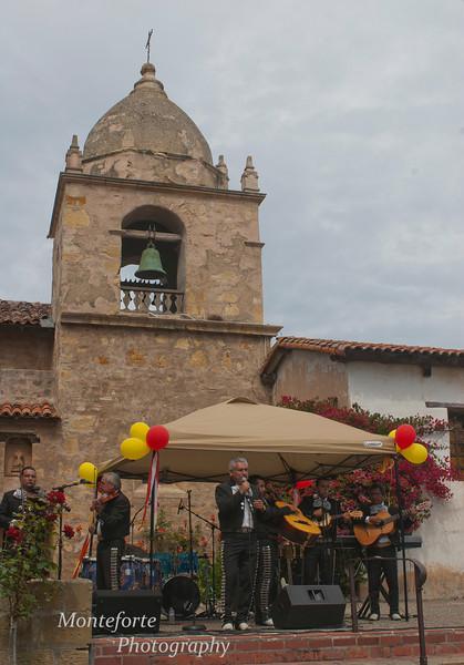 Mariachi Salinas playing at the Carmel Mission Fiesta, Carmel California