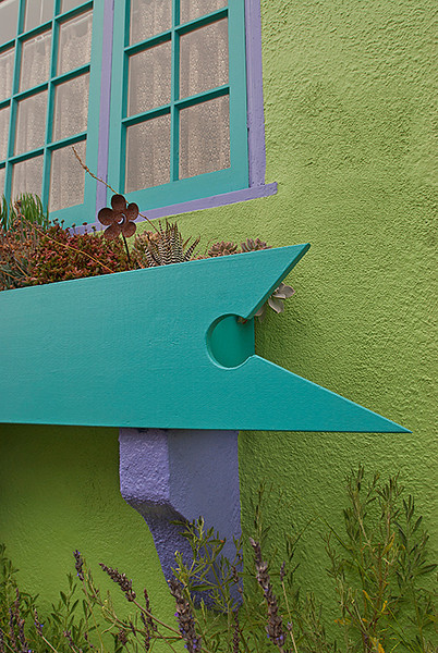 Flower box on house in Pacific Grove,Ca.