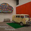 The original sign from the dream theater with a VW van from the summer of love.