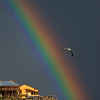 Rainbow over Monterey Bay after clearing storm.