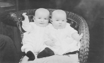 Caption on back says Horace and Helen at 6 months
