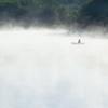 Fishermen in mist