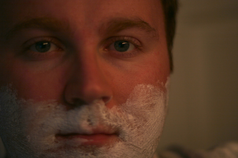 Shaving, self portrait