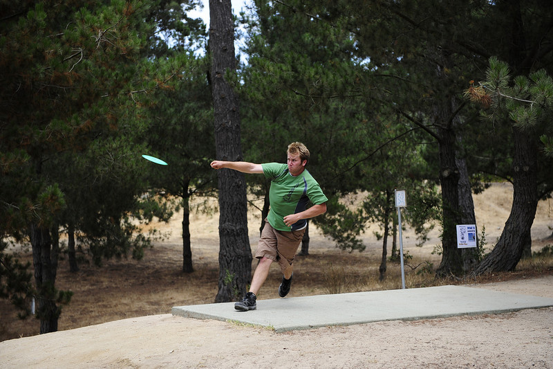Pro disc golfer, Kyle Crabtree at the Santa Maria Open '09