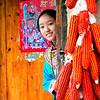 Chinese Qiang minority girl