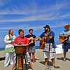 Church on the Beach.~<br /> 6/14/14       The Press Family-Stuart and Mr Bush on the right.~