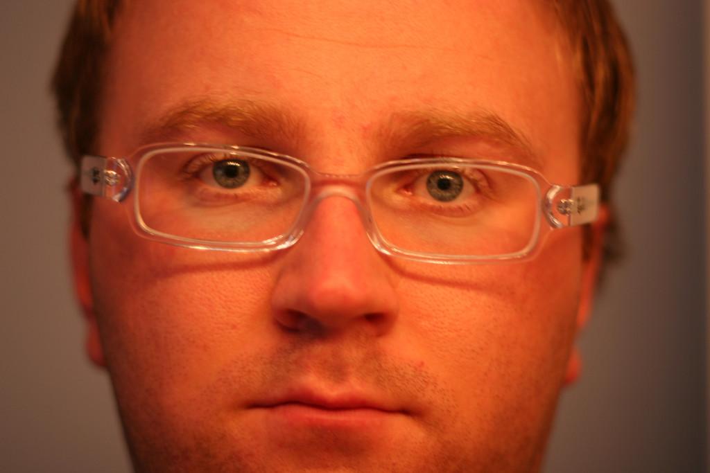 Matt with a serious look
