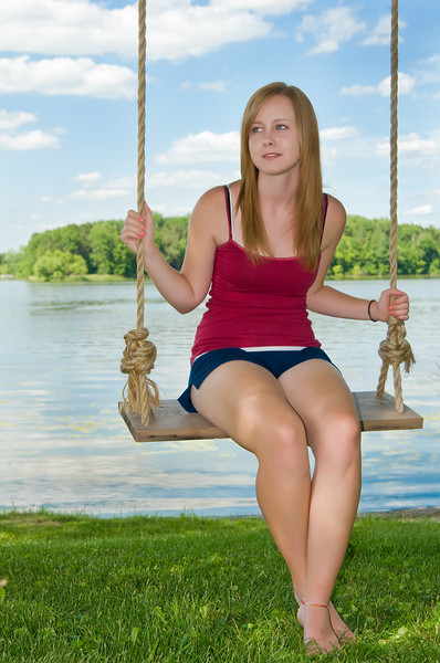 Camille on swing<br /> (image courtesy of Mike Lentz Images LLC)