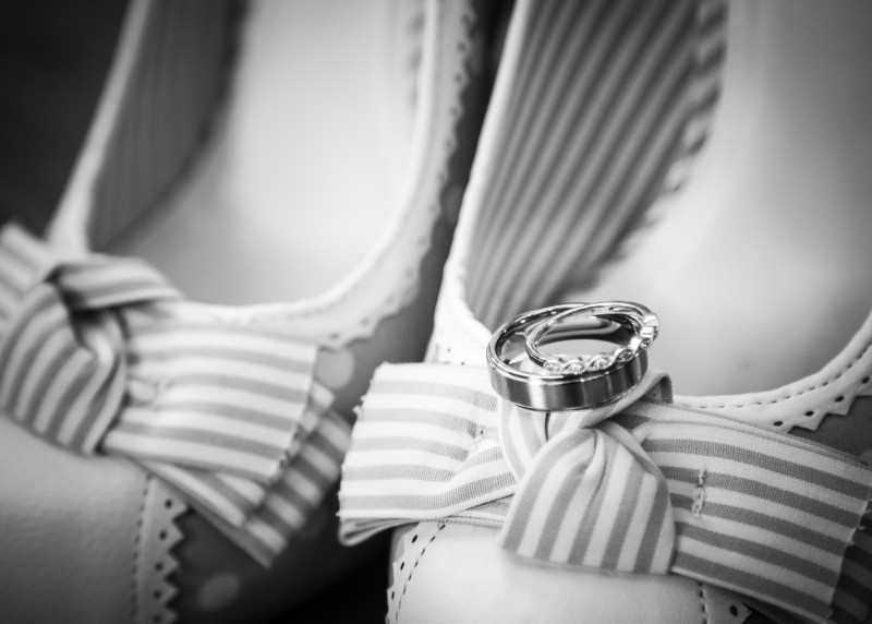 Rings and  shoes bw (1 of 1)