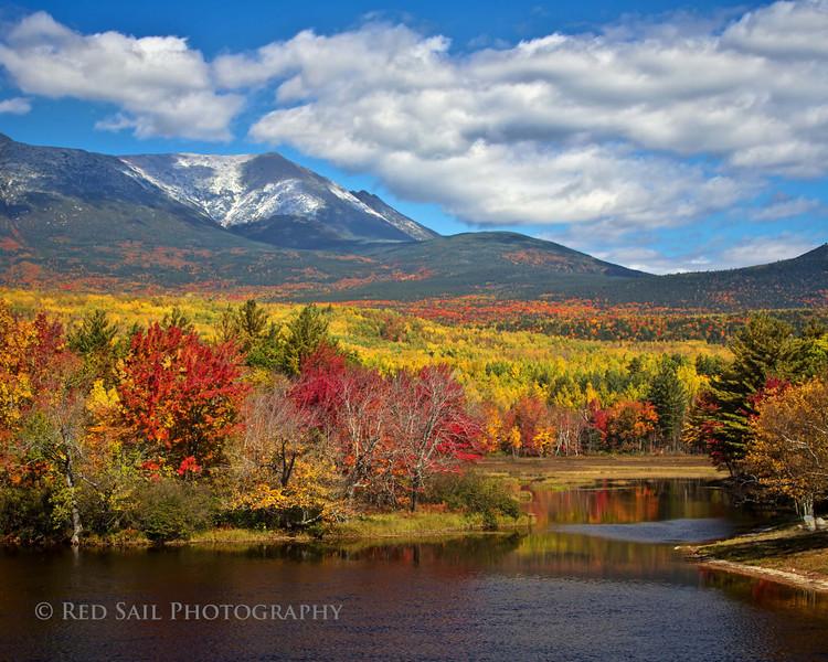 Mt. Katahdin from Abol Bridge.. Baxter State Park, Maine. October 5th, 2012.