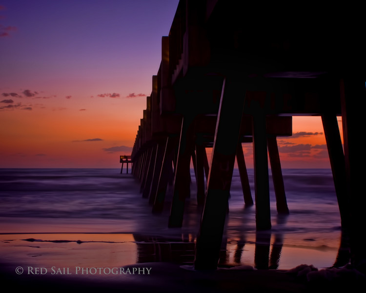 """""""Color My World""""  Dawn at the Jacksonville Beach Pier in Florida."""