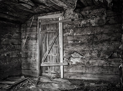 The inside of an old abandoned farmhouse near the Town of Milk River