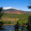 Mt. Katahdin in Baxter State Park, Maine. Image taken from the Tote Road with Round Pond in the fore ground.