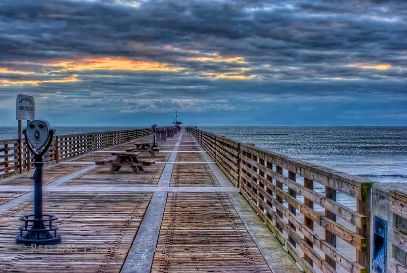 """""""Daybreak"""" (Jacksonville Beach Pier, early morning. Extreme HDR in detail enhancer mode with softening filters applied)."""