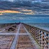 """Daybreak"" (Jacksonville Beach Pier, early morning. Extreme HDR in detail enhancer mode with softening filters applied)."