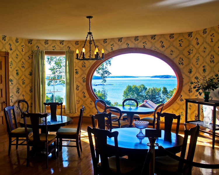 Hubbard Cottage dining area looking at the Bay of Fundy