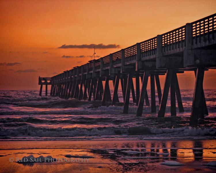 Sunrise at the Jacksonville Beach Pier..