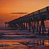 Sunrise at the Jacksonville Beach Pier..
