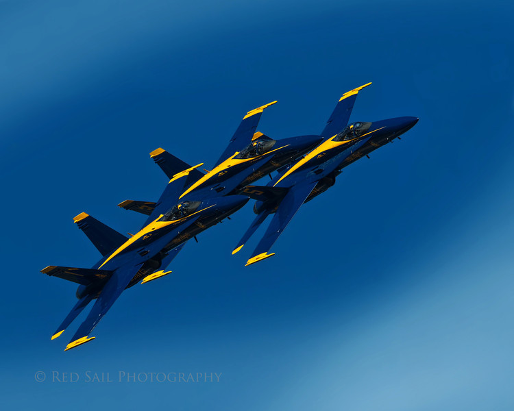 Through a gap in the clouds.. The Blue Angels.