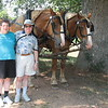 Two of us on a carriage ride on the Biltmore Estate - beautiful horses & 2 old farts!