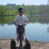 Me on a Segway spring '10 - back of Biltmore house in Asheville.