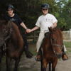 Two of us on horseback in Myrtle Beach fall of 2009!