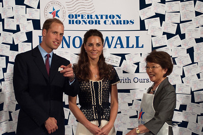 The Duke and Duchess of Cambridge attend the Hiring Our Heroes military job fair and service event hosted by ServiceNation: Mission Serve and the U.S. Chamber of Commerce. Blue Star Families and the USO were partners for the service event, packing care packages for military children. Employers, volunteers and attendees also made pledges of community service in honor of military families through Operation Honor Cards. Photos by Stephanie Himel-Nelson.