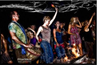 Drum circle dancers 1
